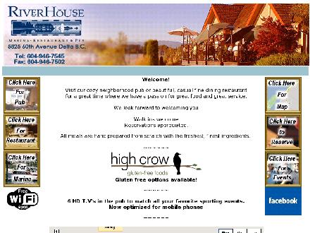 River House Restaurant & Pub Ltd The (604-946-7545) - Onglet de site Web - http://www.riverhousegroup.com