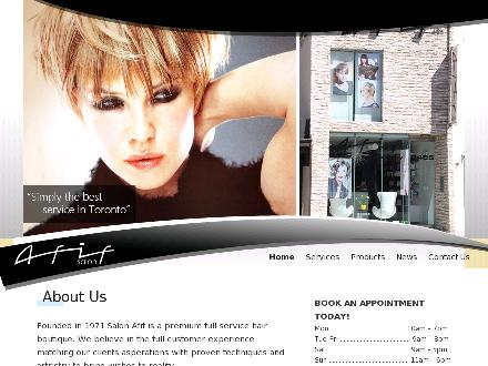 Afif Salon Hair & Beauty (416-488-2161) - Website thumbnail - http://www.salonafif.ca