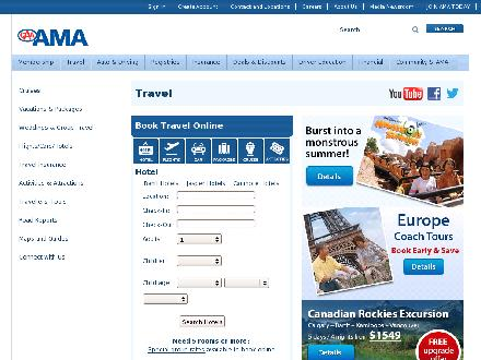 AMA Travel (780-430-5468) - Website thumbnail - http://www.AMATravel.ca