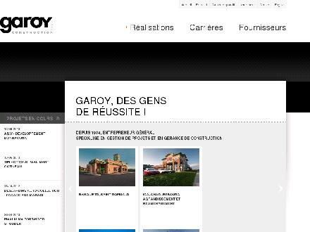 Garoy Construction Inc (418-661-1754) - Onglet de site Web - http://garoy.com