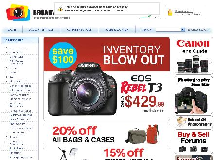 Broadway Camera (604-733-9282) - Website thumbnail - http://www.bccamera.com