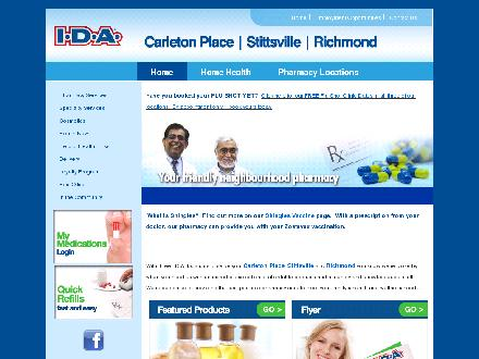 Carleton Place IDA Pharmacy (613-257-1414) - Onglet de site Web - http://www.idapharmacy.ca