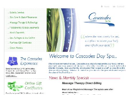 Cascades Day Spa (902-832-3115) - Website thumbnail - http://www.cascades-spa.com