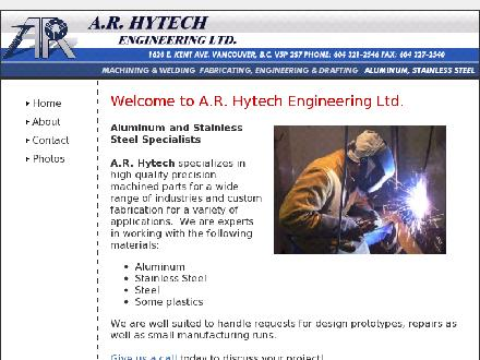 A. R. Hytech Engineering Ltd (604-321-2546) - Website thumbnail - http://www.arhytech.com