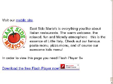 East Side Marios (709-722-6900) - Onglet de site Web - http://www.eastsidemarios.com