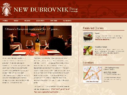 New Dubrovnik Restaurant (613-722-1490) - Onglet de site Web - http://www.newdubrovnik.com