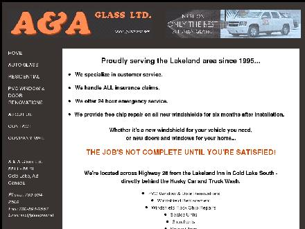 A &amp; A Glass Ltd (780-594-9634) - Website thumbnail - http://www.glasspros.net