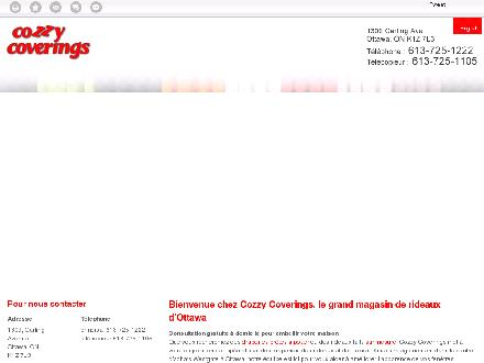 Cozzy Coverings (613-725-1222) - Onglet de site Web - http://cozzycoverings.com/