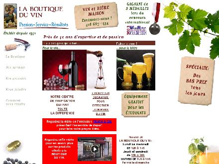 Boutique du Vin (La) (418-683-1454) - Website thumbnail - http://www.laboutiqueduvinweb.com