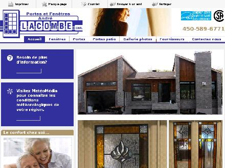 Portes Et Fenetres Andre Lacombe (450-589-6771) - Onglet de site Web - http://portesfenetresandrelacombe.com
