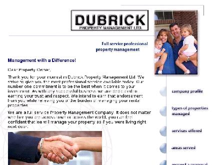 Dubrick Property Management Ltd (519-578-6077) - Website thumbnail - http://www.dubrickpm.com