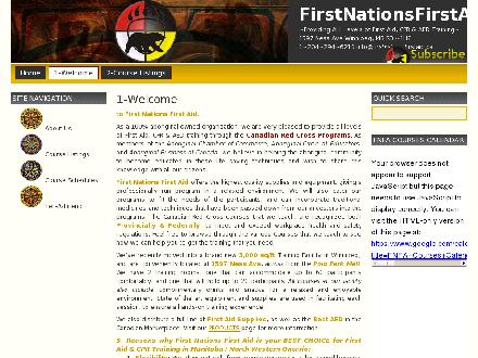 First Nations First Aid (204-510-6210) - Website thumbnail - http://www.firstnationsfirstaid.ca