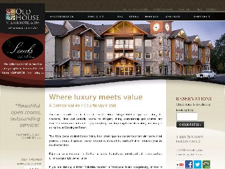 Old House Village Hotel &amp; Spa (250-703-0202) - Onglet de site Web - http://www.oldhousevillage.com