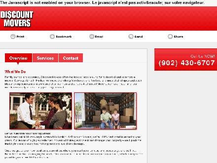 Discount Movers (902-430-6707) - Website thumbnail - http://www.halifaxmoving.ca