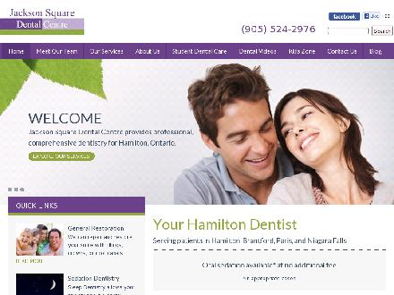 Jackson Square Dental Centre (905-524-2976) - Website thumbnail - http://www.jacksonsquaredental.ca