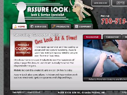 Assure Lock Ltd (780-357-3907) - Website thumbnail - http://www.assurelock.com