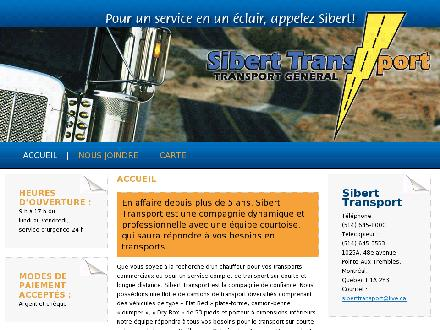 Sibert Transport (514-645-8000) - Onglet de site Web - http://www.siberttransport.pj.ca