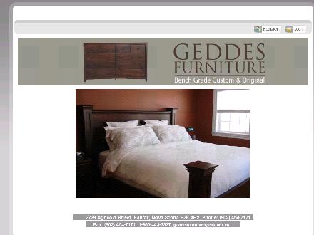 Geddes Furniture Custom and Original (902-454-7171) - Website thumbnail - http://www.geddesfurniture.com