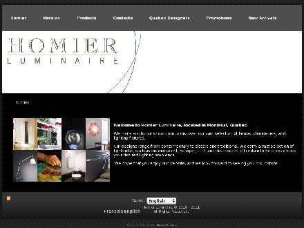Homier Luminaire Inc (514-728-3687) - Onglet de site Web - http://www.homierluminaire.ca
