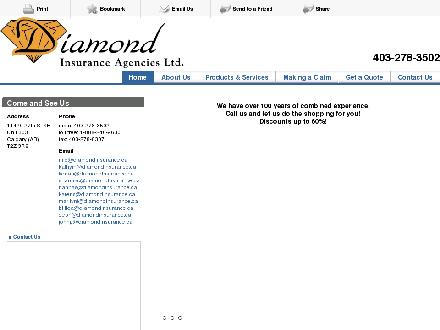 Diamond Insurance Agencies (403-766-9183) - Onglet de site Web - http://diamondinsurance.ca/