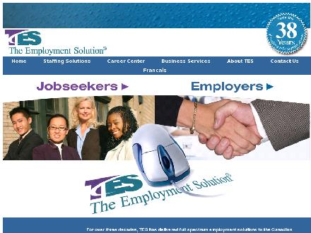 TES Employment Solution The (780-498-1153) - Onglet de site Web - http://www.tes.net