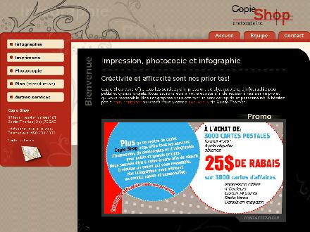 Copie Shop Photocopie Inc (450-430-7930) - Onglet de site Web - http://www.copieshop.ca