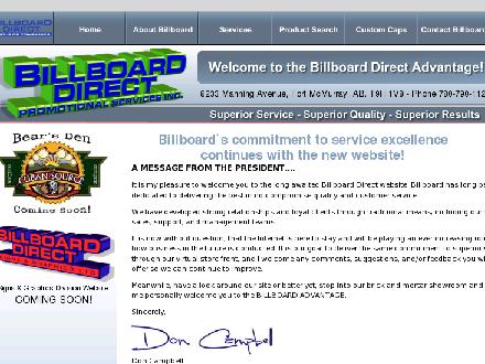 Billboard Direct Sign &amp; Graphics (780-743-4233) - Website thumbnail - http://www.billboarddirect.ca