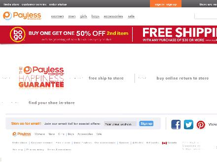 Payless.com - Onglet de site Web - http://www.payless.com