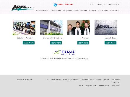 Apex Communications Inc (403-244-2977) - Onglet de site Web - http://www.apexwireless.ca