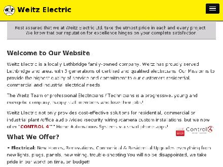 Weitz Electric Ltd (403-359-9052) - Website thumbnail - http://www.weitzelectric.com