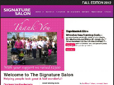 Signature Salon The (709-579-5496) - Website thumbnail - http://www.thesignaturesalon.com