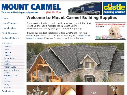 Mount Carmel Building Supplies Ltd (709-521-2730) - Onglet de site Web - http://www.mtcarmel.ca