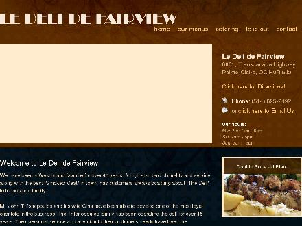 Fairview Delicatessen (514-695-2492) - Onglet de site Web - http://www.fairviewdeli.com