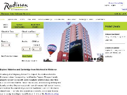 Radisson Hotel Kitchener Waterloo (519-894-9500) - Onglet de site Web - http://www.radisson.com/kitchenerca