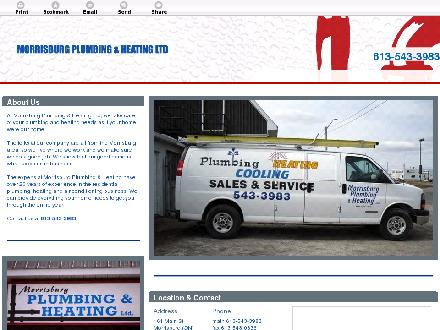 Morrisburg Plumbing & Heating Ltd (613-543-3983) - Website thumbnail - http://morrisburgplumbing.ca