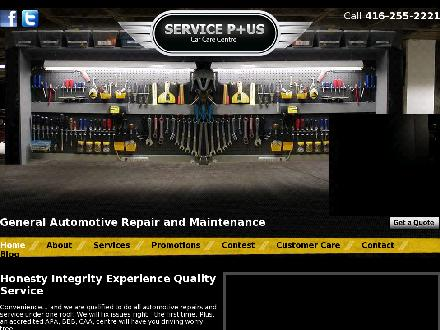 Service Plus Car Care Centre (416-255-2221) - Website thumbnail - http://www.serviceplus416.com