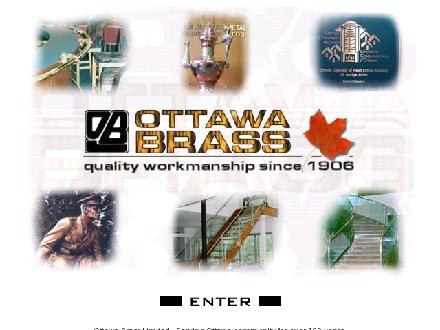 Ottawa Brass Ltd (613-226-1564) - Onglet de site Web - http://www.ottawabrass.on.ca