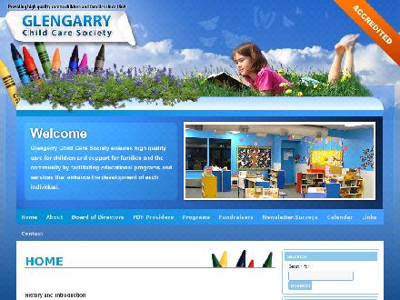 Glengarry Child Care Society (780-401-1970) - Website thumbnail - http://www.glengarrychildcaresociety.com