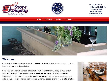 Interior Store Display Installations Inc (519-895-0532) - Onglet de site Web - http://www.interiorstoredisplay.com