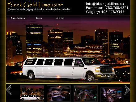 A A Black Gold Limousine (780-708-4321) - Onglet de site Web - http://www.blackgoldlimo.ca