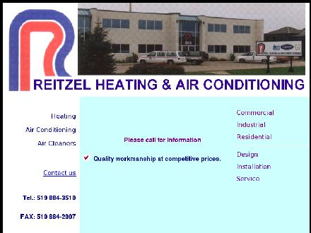 Reitzel Heating & Air Conditioning (519-884-3510) - Website thumbnail - http://www.reitzelheating.com