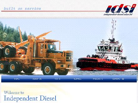 Independent Diesel Sales Ltd (250-390-4444) - Website thumbnail - http://www.independentdiesel.com