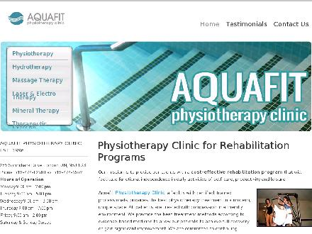 Aquafit Physiotherapy Clinic (519-474-0240) - Website thumbnail - http://www.aquafit.on.ca/