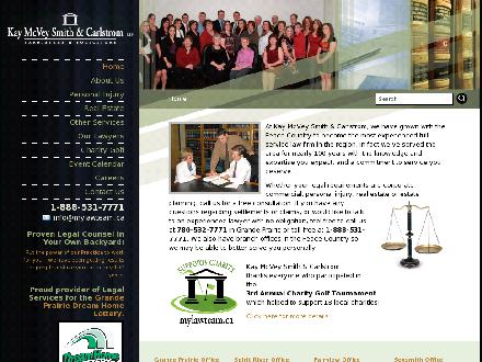 Kay McVey Smith & Carlstrom LLP (780-357-3902) - Website thumbnail - http://www.mylawteam.ca