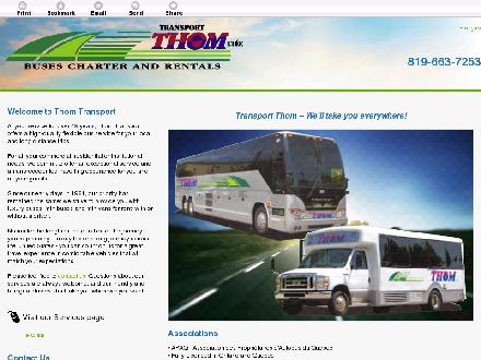 Transport Thom Lt&eacute;e (819-663-7253) - Website thumbnail - http://www.transportthom.net