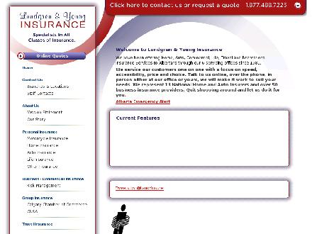 Lundgren & Young Insurance Ltd (403-253-1980) - Onglet de site Web - http://www.landy.ca