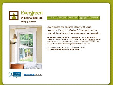 Evergreen Window & Door (204-228-7885) - Website thumbnail - http://www.evergreenwd.ca
