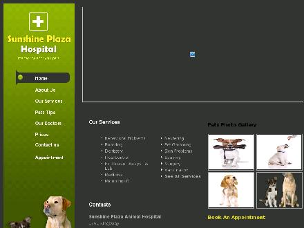 Sunshine Plaza Animal Hospital (604-676-0047) - Onglet de site Web - http://www.sunshineplazavet.com