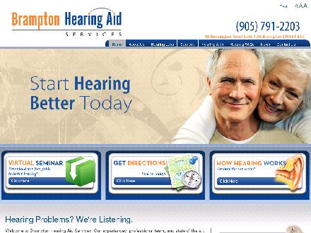 Brampton Hearing Aid Services (289-801-0297) - Onglet de site Web - http://www.bramptonhearingaid.com