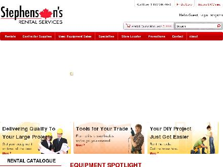 Stephenson's Rental Services - Website thumbnail - http://www.stephensons.ca